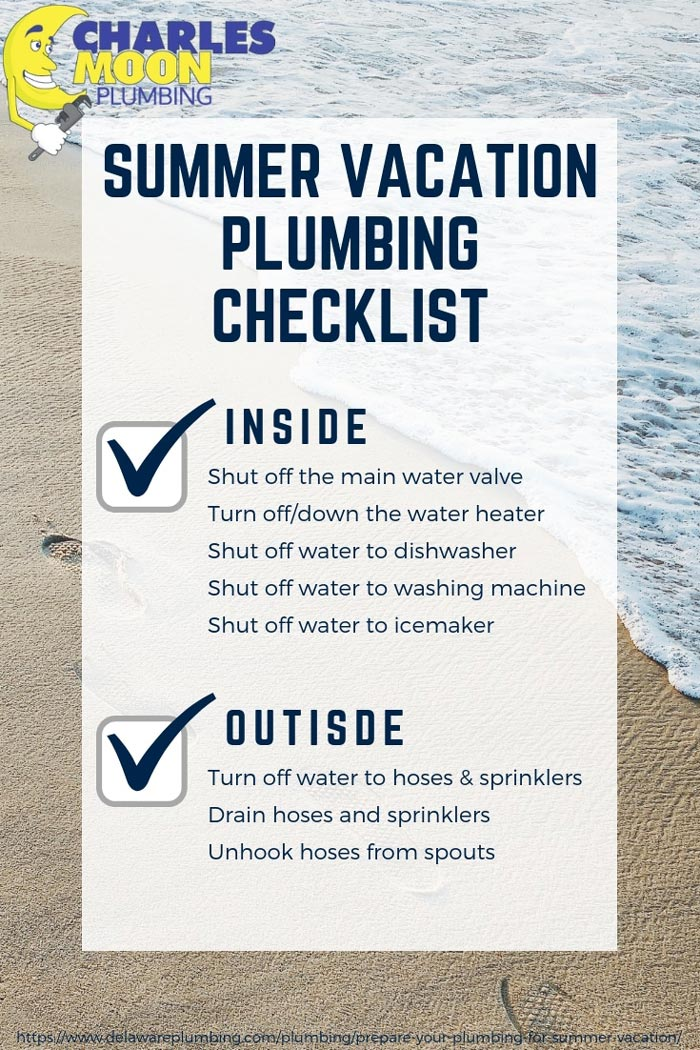 Summer vacation plumbing checklist
